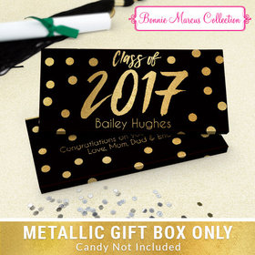Deluxe Personalized Dots Graduation Metallic Candy Bar Cover