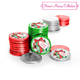 Bonnie Marcus Collection Christmas Pretty Package Chocolate Coins (72 Pack)