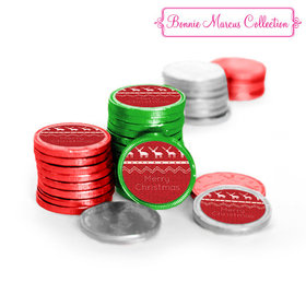Bonnie Marcus Collection Holiday Wishes Christmas Chocolate Coins (72 Pack)