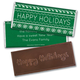 Bonnie Marcus Collection Christmas Personalized Embossed Chocolate Bar