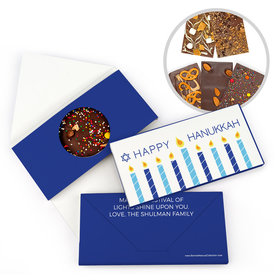 Personalized Bonnie Marcus Hanukkah Simply Bar Gourmet Infused Belgian Chocolate Bars (3.5oz)