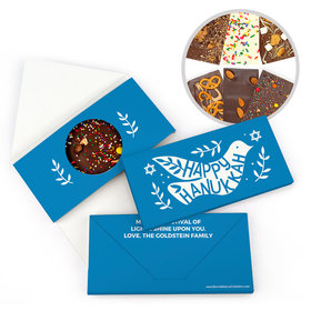 Personalized Bonnie Marcus Hanukkah Dove Bar Gourmet Infused Belgian Chocolate Bars (3.5oz)