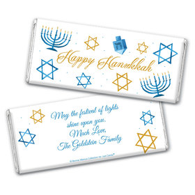 Personalized Bonnie Marcus Hanukkah 8 Crazy Nights Chocolate Bar Wrapper Only