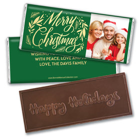 Personalized Bonnie Marcus Festive Leaves Photo Embossed Chocolate Bar & Wrapper