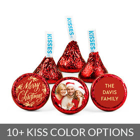 Personalized Bonnie Marcus Christmas Festive Photo Hershey's Kisses (50 pack)