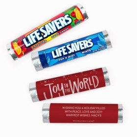 Personalized Bonnie Marcus Christmas Joy to the World Lifesavers Rolls (20 Rolls)
