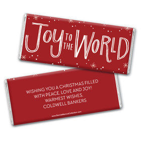 Personalized Bonnie Marcus Christmas Joy to the World Chocolate Bar & Wrapper