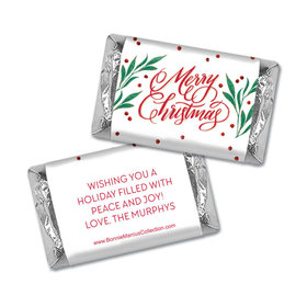 Personalized Bonnie Marcus Christmas Holly-day Joy Hershey's Miniatures