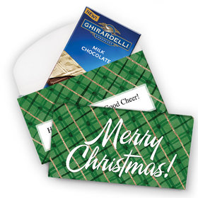 Deluxe Personalized Classical Christmas Ghirardelli Chocolate Bar in Gift Box