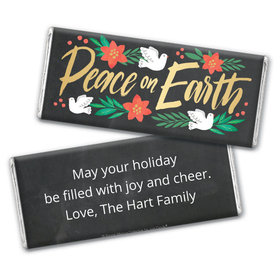 Personalized Bonnie Marcus Christmas Peace on Earth Chocolate Bar & Wrapper