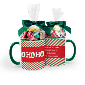 Personalized Bonnie Marcus Christmas Ho Ho Ho's 11oz Mug with Hershey's Holiday Mix