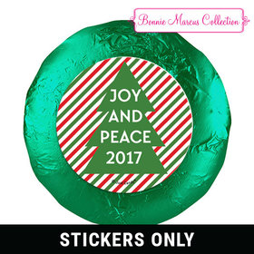 """Personalized Bonnie Marcus Christmas Ho Ho Ho's 1.25"""" Stickers (48 Stickers)"""