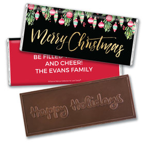 Personalized Bonnie Marcus Christmas Ornate Ornaments Embossed Chocolate Bar