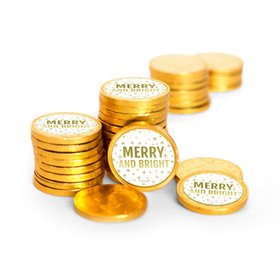 Bonnie Marcus Christmas Merry & Bright Chocolate Coins (84 Pack)