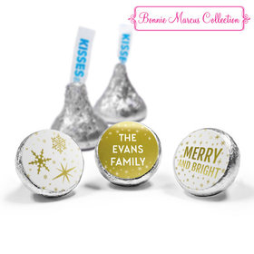 Personalized Bonnie Marcus Christmas Glitter Hershey's Kisses (50 Pack)
