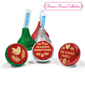 Personalized Bonnie Marcus Christmas Seasons Greetings Hershey's Kisses (50 Pack)