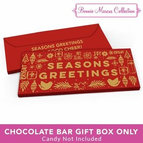 Deluxe Personalized Seasons Greetings Christmas Metallic Candy Bar Cover