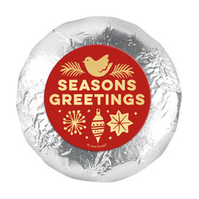 "Bonnie Marcus Christmas Season's Greetings 1.25"" Stickers (48 Stickers)"