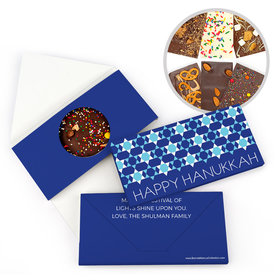 Personalized Bonnie Marcus Hanukkah Quilt Bar Gourmet Infused Belgian Chocolate Bars (3.5oz)