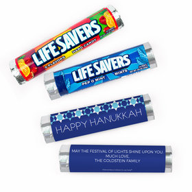 Personalized Bonnie Marcus Hanukkah Quilt Lifesavers Rolls (20 Rolls)