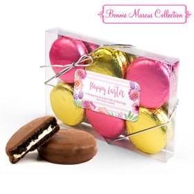 Personalized Bonnie Marcus Easter Pink Flowers 6PK Gold & Pink Chocolate Covered Oreo Cookies
