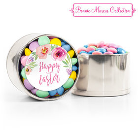 Easter Pink Flowers Chocolate Minis Medium Plastic Tin