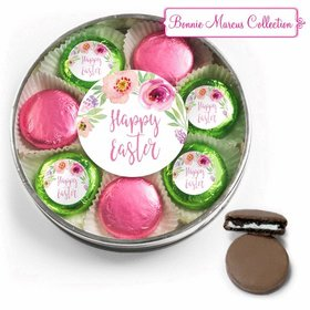 Easter Pink Flowers Belgian Chocolate Covered Oreo Cookies Large Plastic Tin