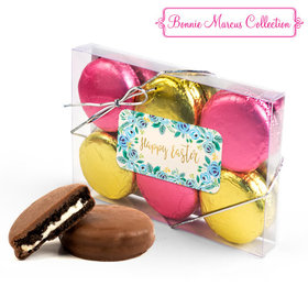 Bonnie Marcus Easter Blue Flowers 6PK Gold & Pink Chocolate Covered Oreo Cookies