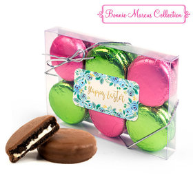 Bonnie Marcus Easter Blue Flowers 6PK Belgian Chocolate Covered Oreo Cookies