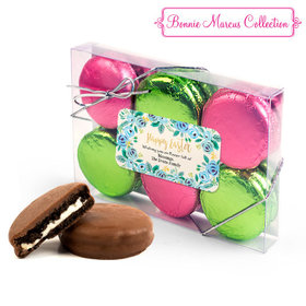 Personalized Bonnie Marcus Easter Blue Flowers 6PK Belgian Chocolate Covered Oreo Cookies