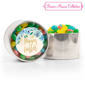 Easter Blue Flowers Spring Mix Jelly Beans Medium Plastic Tin