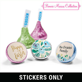 "Bonnie Marcus Collection Easter Blue Flowers 3/4"" Sticker (108 Stickers)"