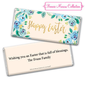 Bonnie Marcus Collection Easter Blue Flowers Chocolate Bar & Wrapper