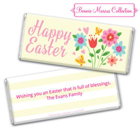 Bonnie Marcus Collection Easter Spring Flowers Chocolate Bar & Wrapper