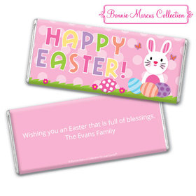 Bonnie Marcus Collection Easter Pink Dots Chocolate Bar & Wrapper