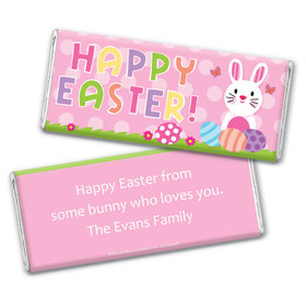 Bonnie Marcus Collection Easter Pink Dots Chocolate Bar Wrappers