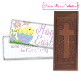 Bonnie Marcus Collection Easter Purple Flowers Chocolate Bar & Wrapper