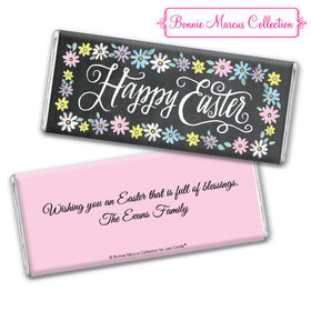 Bonnie Marcus Collection Happy Easter Script Chocolate Bar & Wrapper with Gold Foil