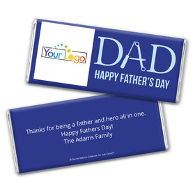 Personalized Bonnie Marcus Collection Father's Day Add Your Logo Chocolate Bar