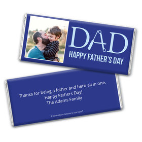 Personalized Bonnie Marcus Collection Father's Day Photo Chocolate Bar Wrappers