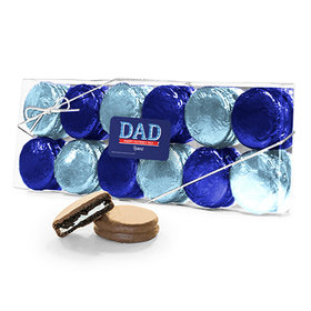 Bonnie Marcus Collection Personalized Father's Day Plaid 12PK Chocolate Covered Oreo Cookies