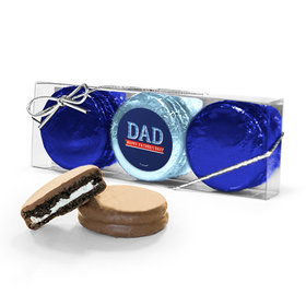 Bonnie Marcus Collection Father's Day Plaid 3PK Chocolate Covered Oreo Cookies