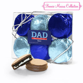 Bonnie Marcus Collection Personalized Father's Day Plaid 6PK Chocolate Covered Oreo Cookies