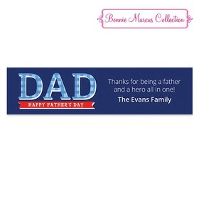 Personalized Bonnie Marcus Plaid Father's Day 5 Ft. Banner