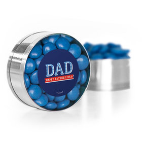 Bonnie Marcus Collection Plaid Father's Day Small Silver Plastic Tin