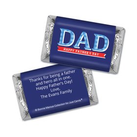 Bonnie Marcus Collection Personalized Father's Day Hershey's Miniatures Wrappers Plaid