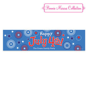 Personalized Bonnie Marcus Independence Day Fireworks Banner
