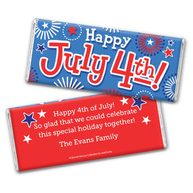 Personalized Bonnie Marcus Fireworks Independence Day Chocolate Bar & Wrapper