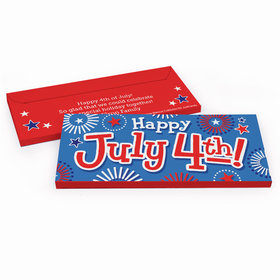 Deluxe Personalized Independence Day Fireworks Candy Bar Cover