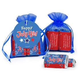 Bonnie Marcus Independence Day Fireworks Hershey's Miniatures in Organza Bags with Gift Tag